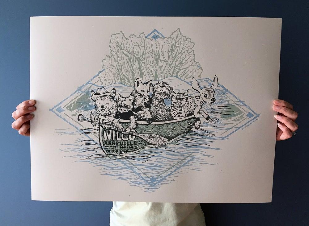 """Image of """"Wilcanoe"""" - Wilco, Asheville, NC Thomas Wolfe Auditorium"""