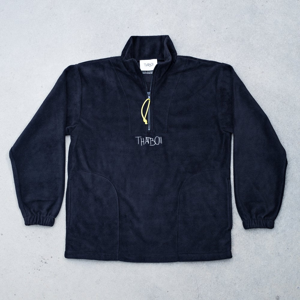 Image of THATBOII FLEECE PULLOVER - BLACK