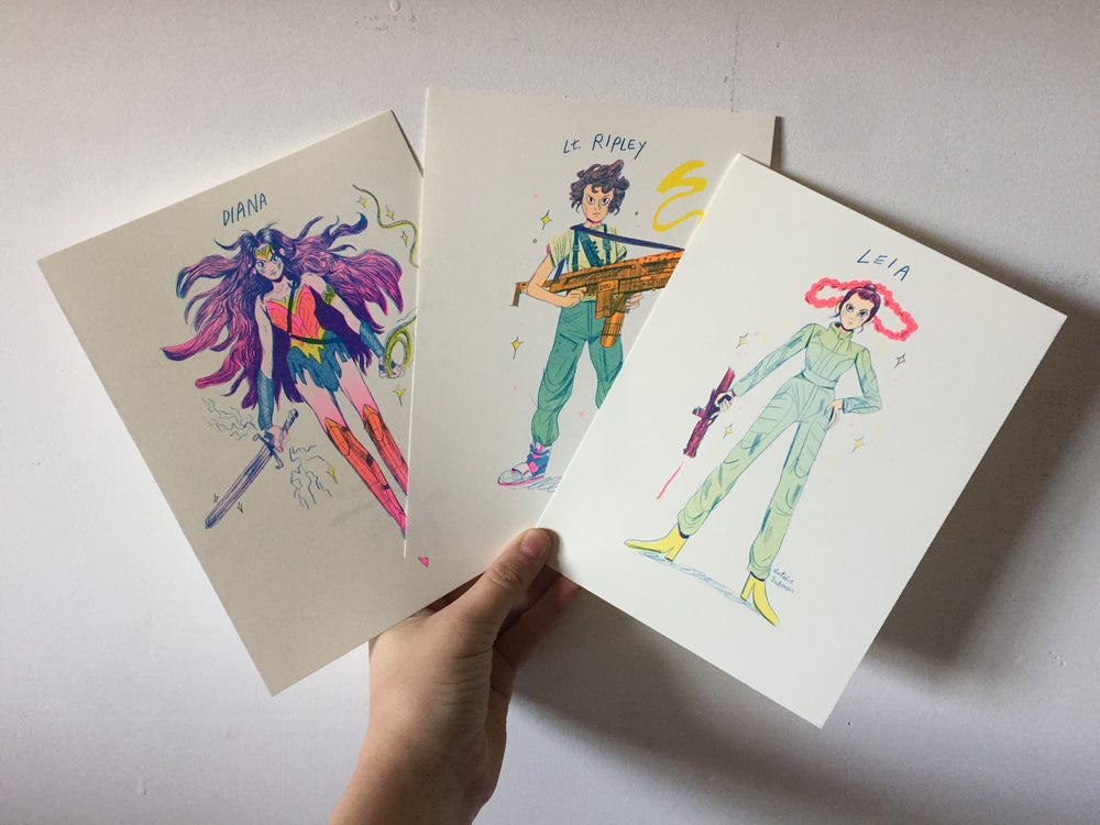 Image of Super Women Riso Print Series