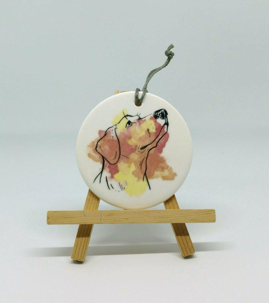 Image of Labrador Watercolor Ornament