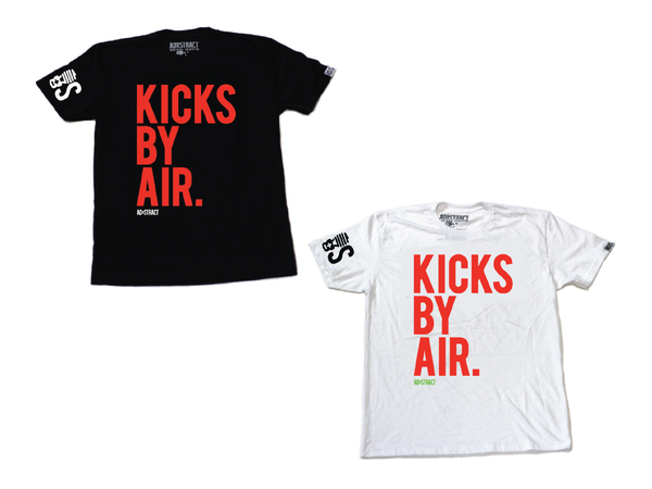 "Image of KICKS BY AIR ""WHITE OR BLACK W/ SOLAR RED"" TSHIRT"
