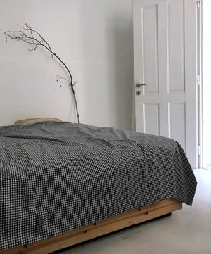 Image of Checked duvet cover + pillowcase