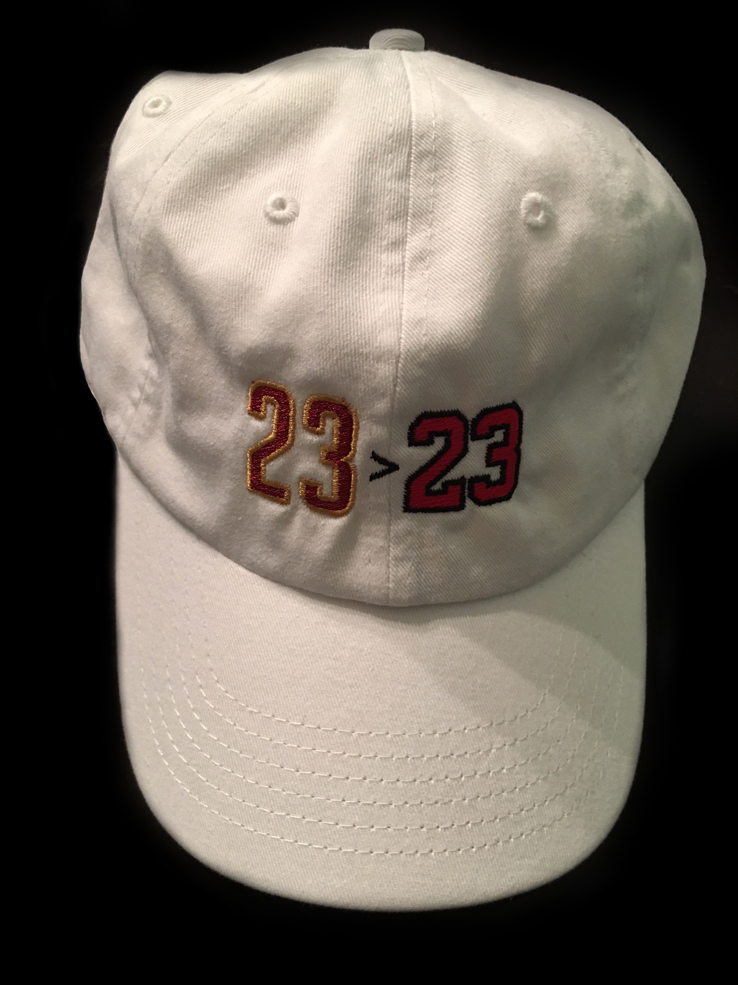 "Image of The Original ""Greater Than"" White Dad Hat"