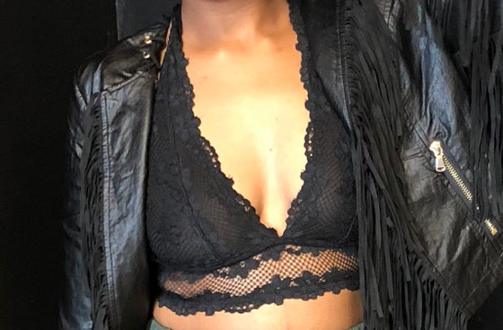 Image of Black Lace Bralette