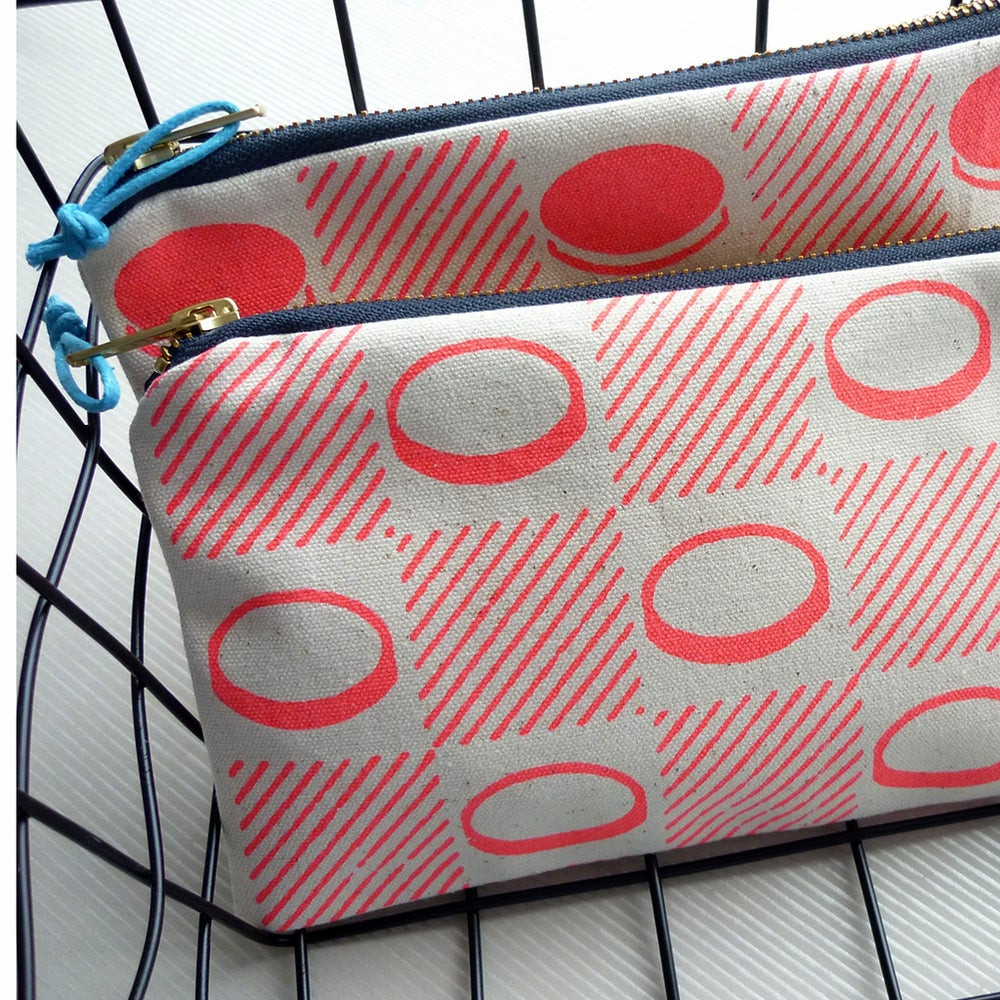 Image of Checkerboard pencil case