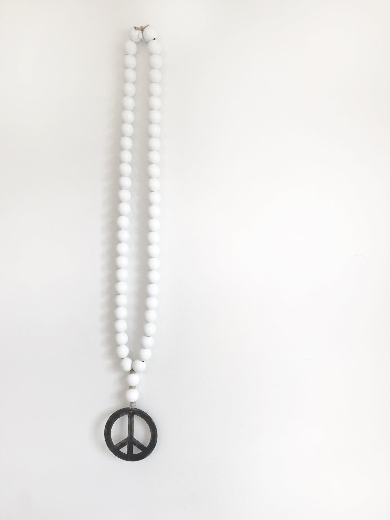 Image of ORIGINAL LOVE BEADS - WHITE PEACE