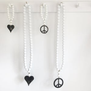 Image of Original Love Beads - White Peace Sign