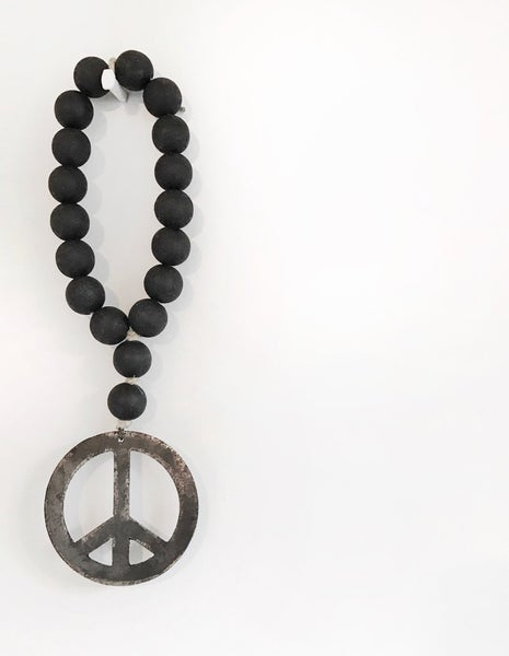 Image of MINI LOVE BEADS - Modern Black Peace Sign