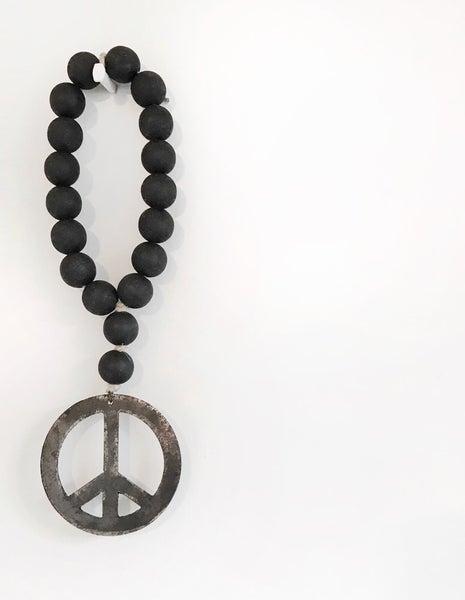 Image of MINI LOVE BEADS - Modern Black Peace Sign