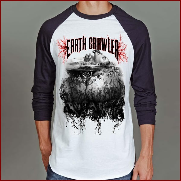 "Image of ""From Below"" Mens Raglan"