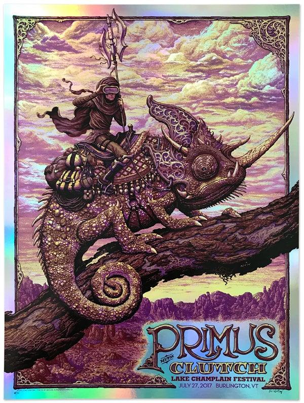 Image of PRIMUS Gig Poster: Lake Champlain, Dusk and Twilight Foils
