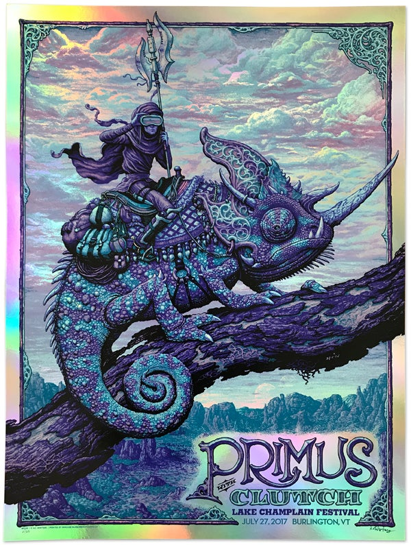 Image of PRIMUS Gig Poster: Lake Champlain, Dusk and Twilight Foils