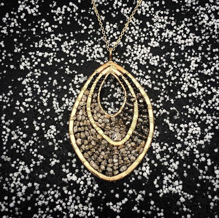 Image of Gold Yoni talisman necklace