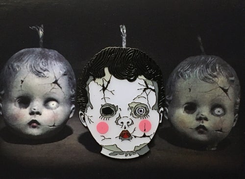 Image of Creepy Babydoll Head Demonic Pinfestation x Sick Wix Collaboration