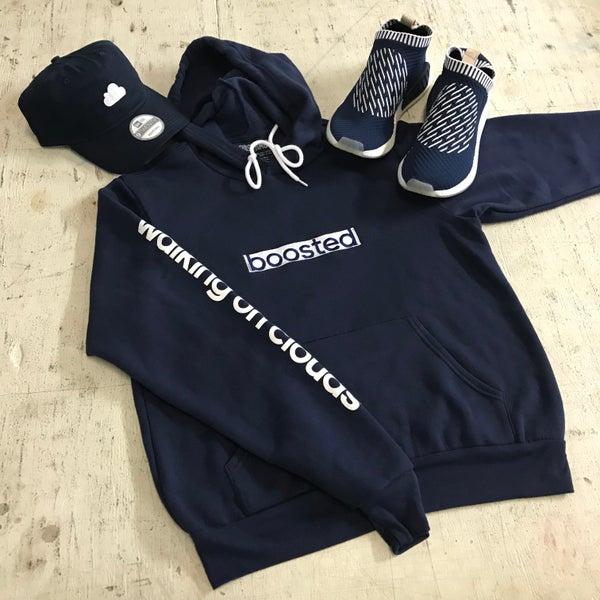 Image of BOOSTED LONG EMBROIDERY HOODY