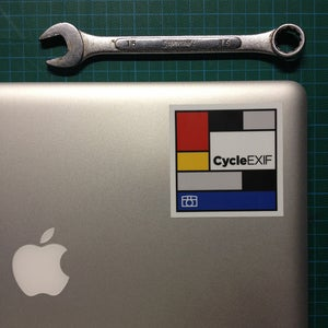 Image of Cycle EXIF Mondrian Sticker