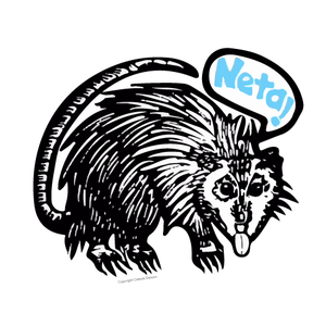"Image of Tlacuache ""Neta!"" Sticker - Die cut - 2.35"" x 2.00"""