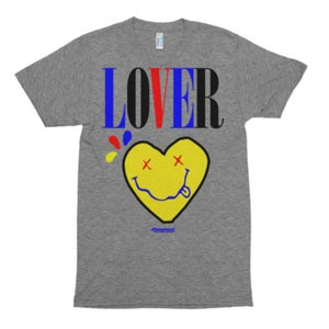 "Image of The ""LOVER"" Tee Multi in Gray Triblend"