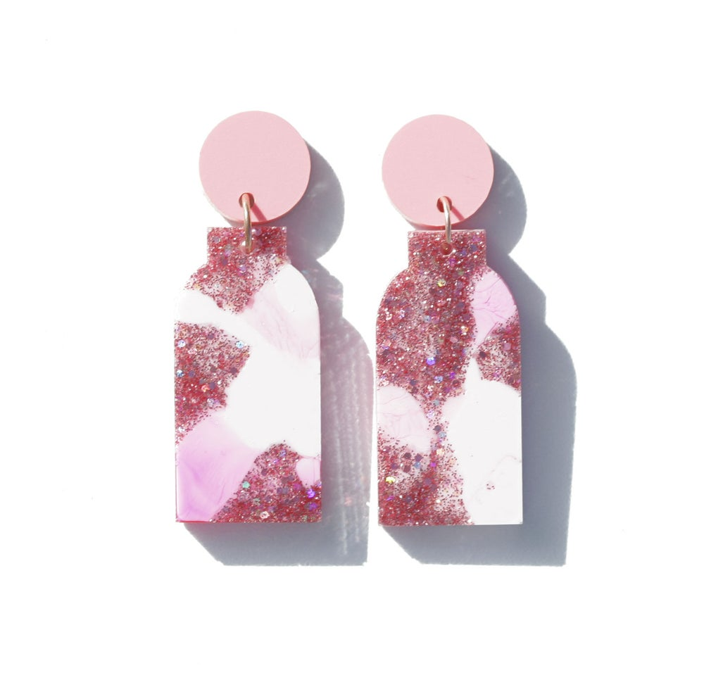 Image of Vessel Earrings - Pink