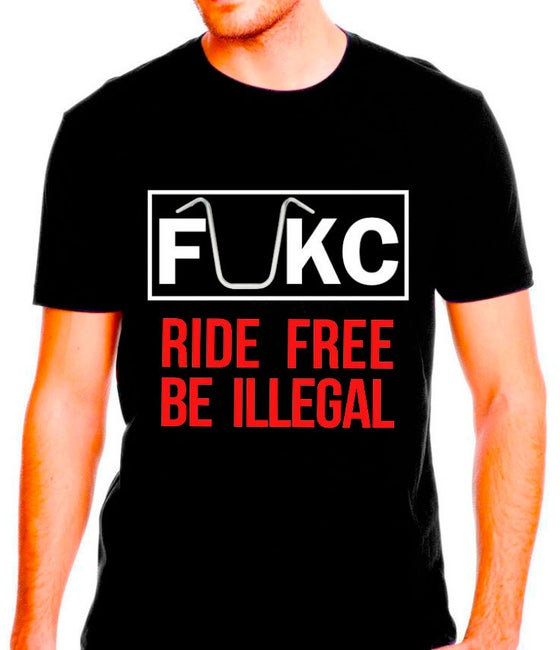 Image of RIDE FREE- BE ILLEGAL (BLACK)