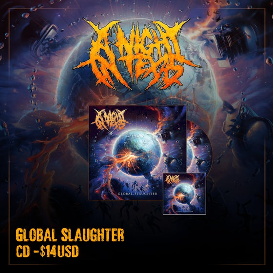 Image of Global Slaughter CD & Sticker *PRE-ORDER*