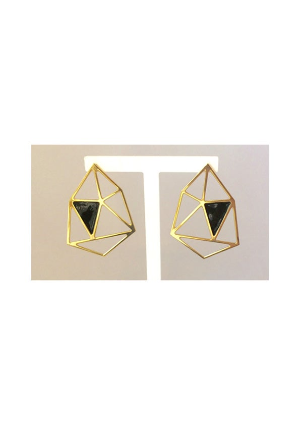 Image of GRAND HEXAGONE  - Boucles d'oreilles