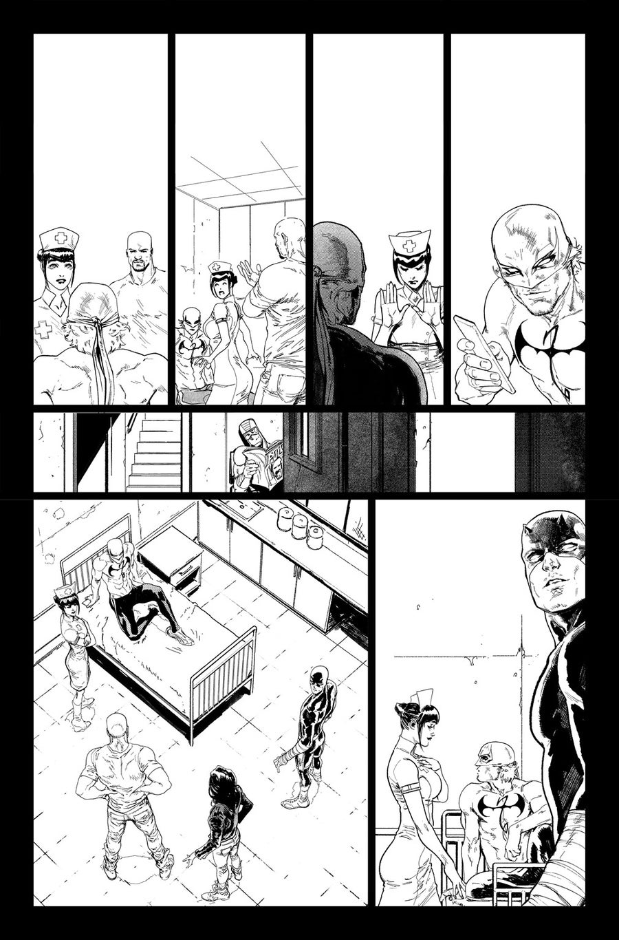 Image of DEFENDERS #5 p.03 Artist's Proof