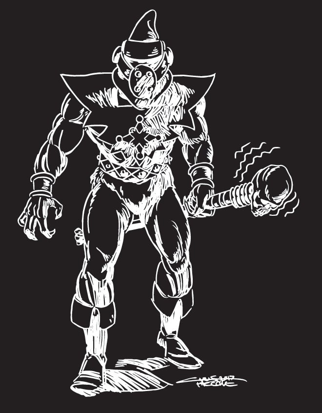 Image of Master Boshak T-Shirt (White on Black)