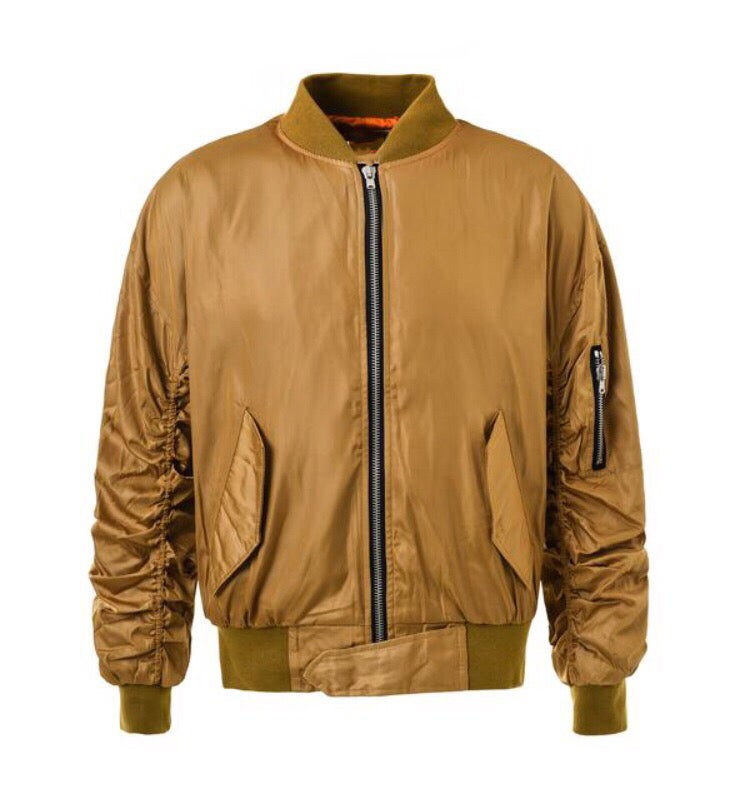 Image of Gold Bomber Jacket