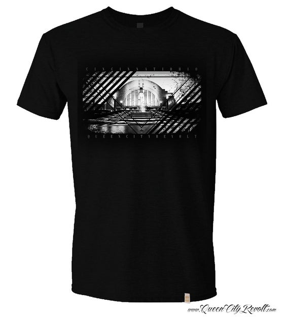 Image of Union Terminal, Cincinnati, Ohio Tee, Black