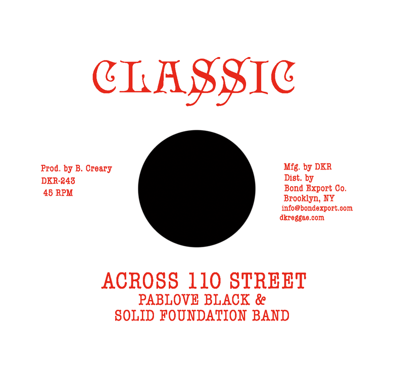 "Image of Pablove Black & Solid Foundation Band - Across 110 Street / Over the Bridge 7"" (Classic)"