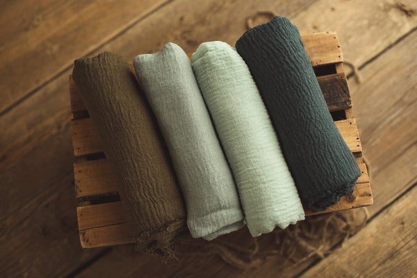 Image of Shades of Green Wrap Set