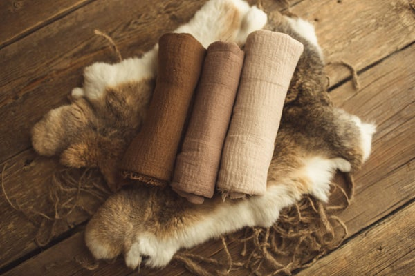 Image of Natural Fur & Wrap Set