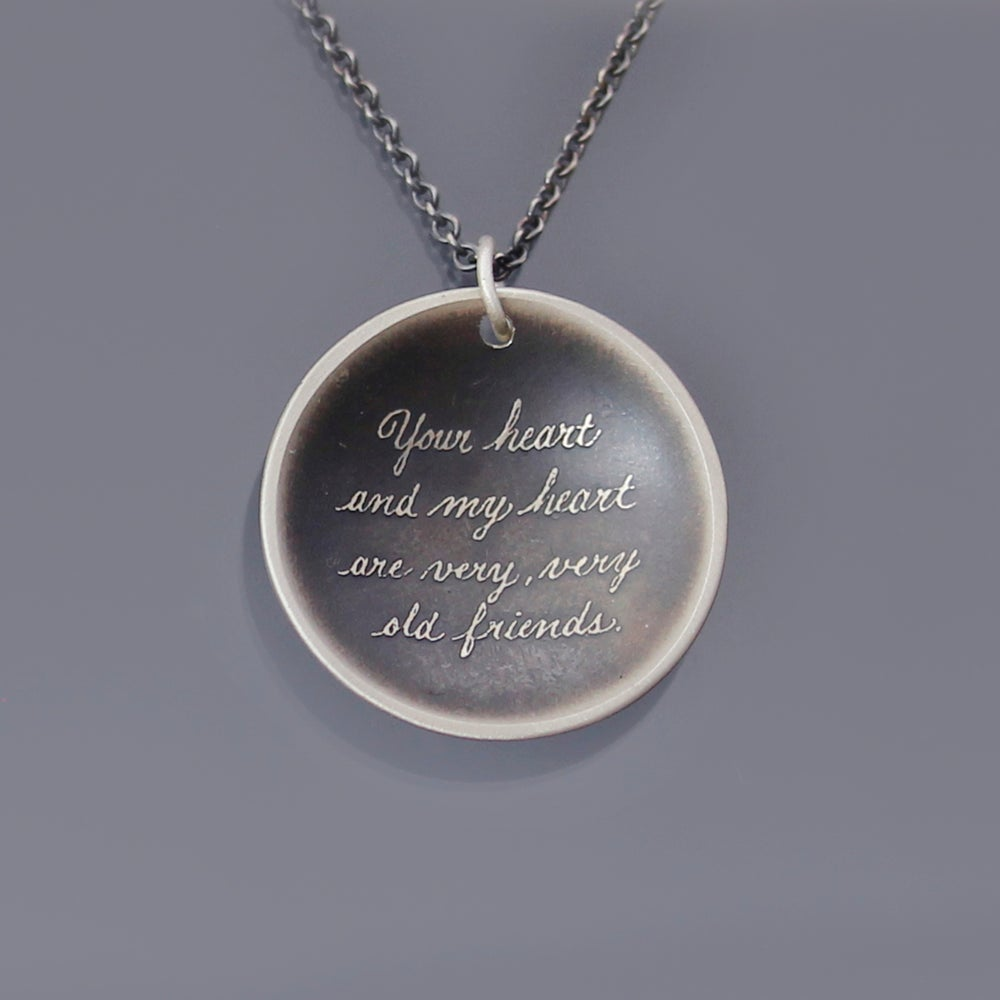 Friendship Quotes Jewelry: Sterling Silver Friendship Quote