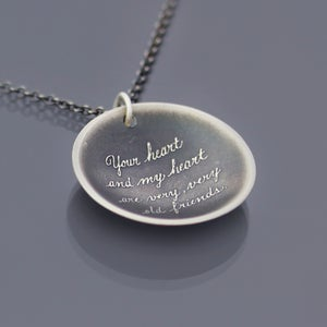 Image of Sterling Silver Friendship Quote Necklace