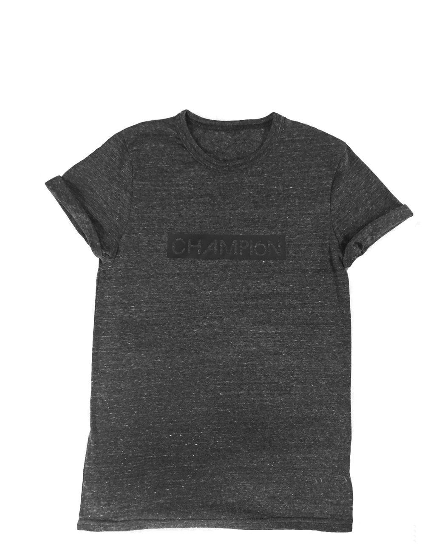 Image of unisex recycled block t-shirt