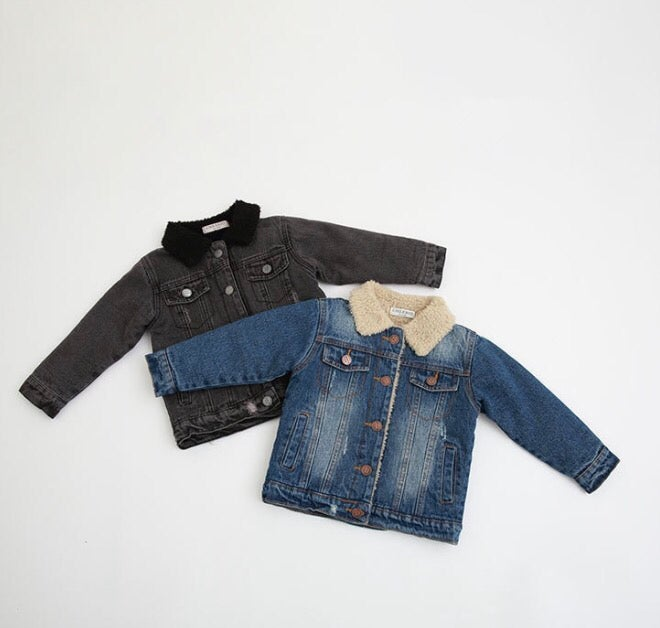 Image of Saint Shearling furlined denim jacket