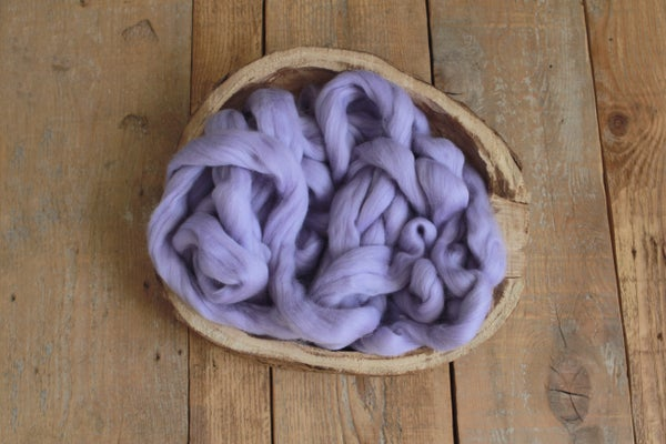 Image of BLUE PURPLE WOOL LOOSE FLUFF