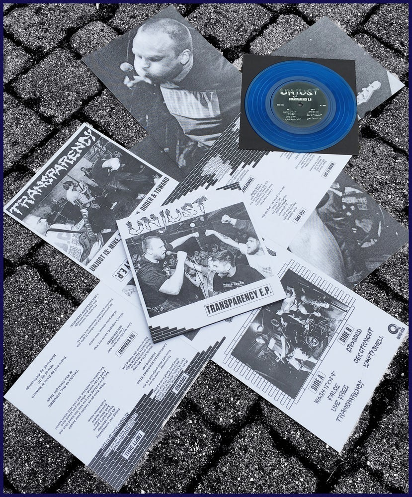"Image of Unjust 'Transparency' 7"" UKHC NWOBHC"