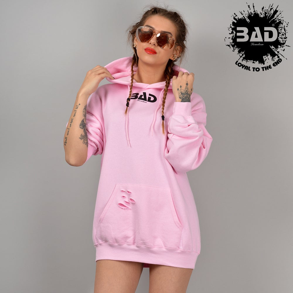 Image of PREMIUM UNISEX HOODIE BAD CLOTHING LONDON DESIGNER URBAN STREET WEAR AND FITNESS FASHION