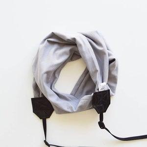 Image of Scarf Camera Strap Knit Stretch Comfy Handmade
