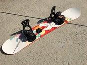 Image of Capita Mid Life Artist 158 Snowboard with Burton Cartel lrg bindings