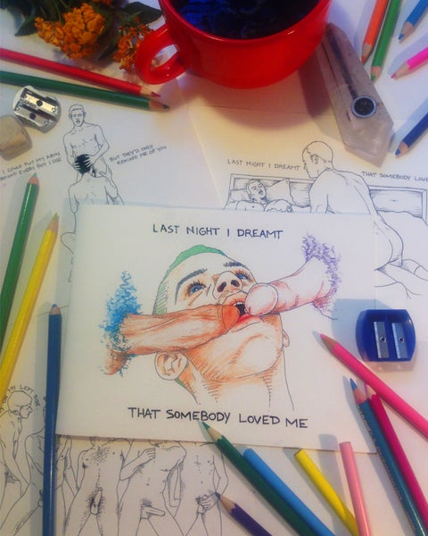 "Image of ""LAST NIGHT I DREAMT THAT SOMEBODY LOVED ME"" COLORING BOOK"