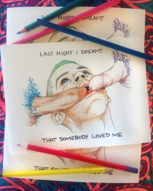 """Image of """"LAST NIGHT I DREAMT THAT SOMEBODY LOVED ME"""" COLORING BOOK"""