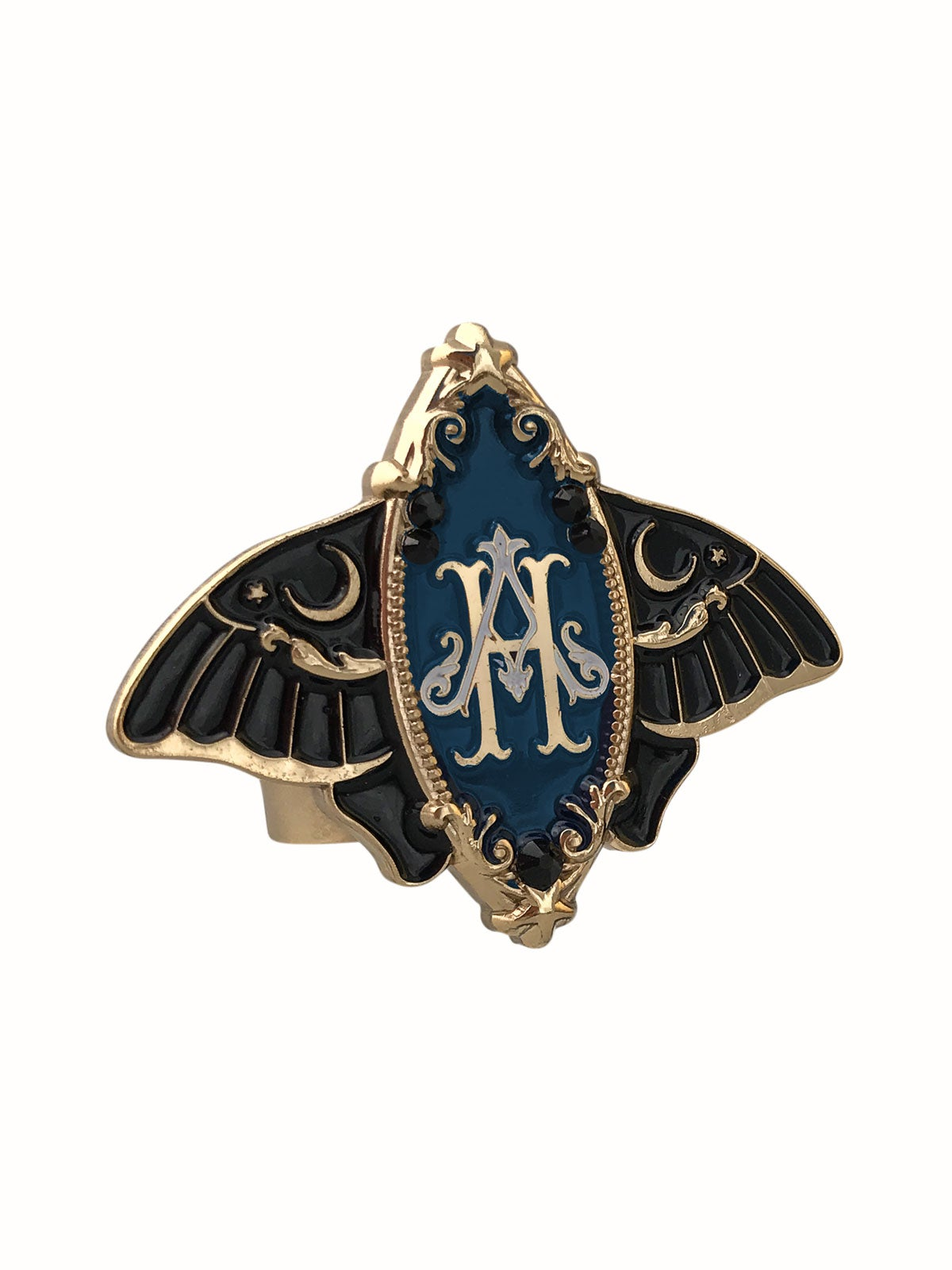Image of Moonlight Moth • Navy Ring