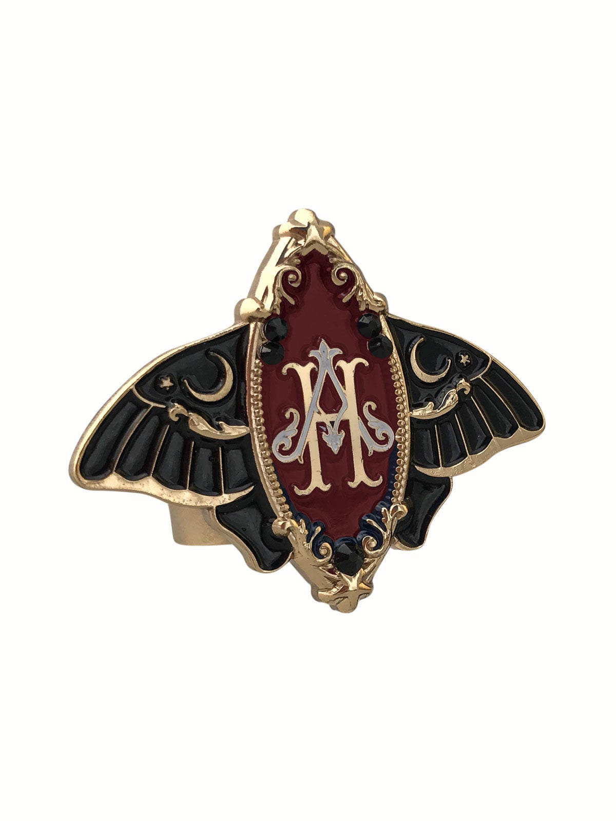 Image of Moonlight Moth • Burgundy Ring