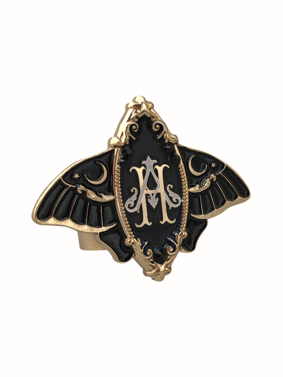 Image of Moonlight Moth • Black Ring