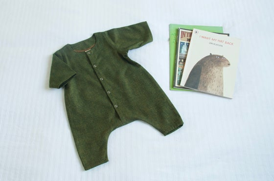 Image of Kale Cotton Flannel Onesie