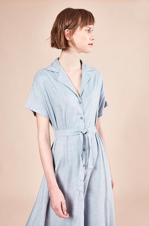 Image of Vestido Bonnie Retro azul