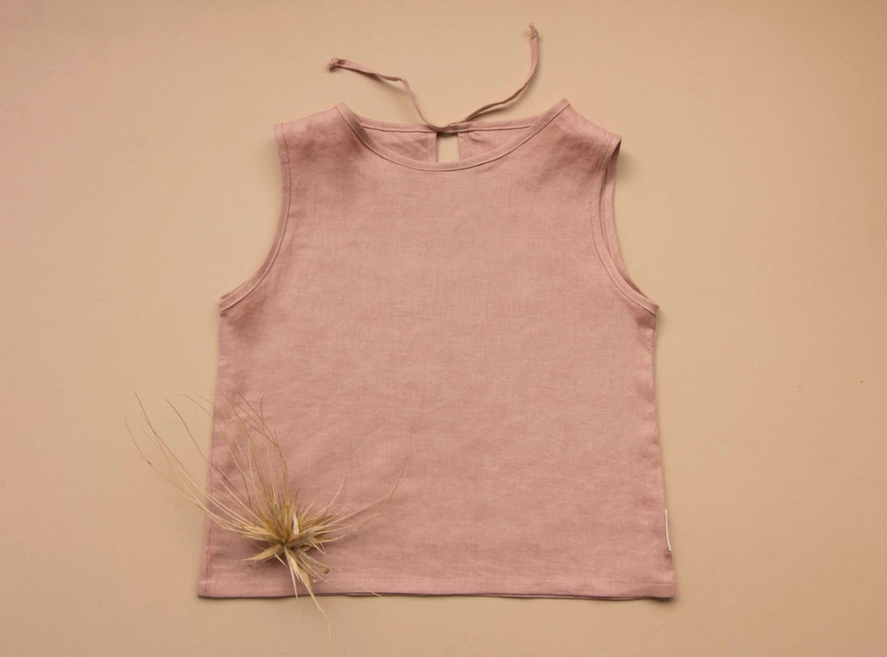 Image of Dusty Pink linen top